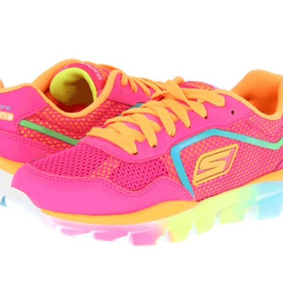 skechers neon sneakers